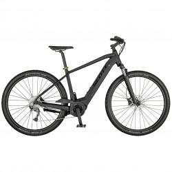 Vélo électrique VTC 29p alu - SCOTT 2021 Sub Cross eRide 20 Men 500 - Gris anthracite décor noir