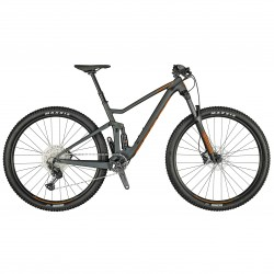 Vélo VTT 29p alu - SCOTT 2021 Spark 960 - Gris anthracite décor orange