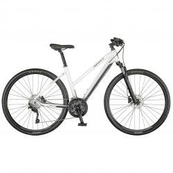 Vélo VTC alu dames 28p SCOTT 2021 Sub Cross 20 Lady blanc décor noir