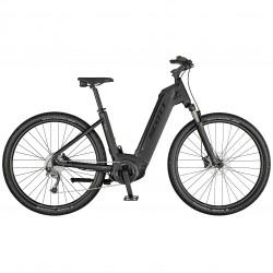 Vélo électrique VTC 29p SCOTT 2021 alu Sub Cross eRide 20 USX 500 gris anthracite décor noir