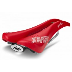Selle SMP route Glider 136 rouge décor blanc