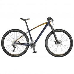 Vélo VTT 29 alu - SCOTT 2021 Aspect 930 - Bleu nuit décor orange