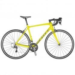 Vélo course 700 carbone - SCOTT 2021 Addict 30 - Jaune fluo décor gris argent