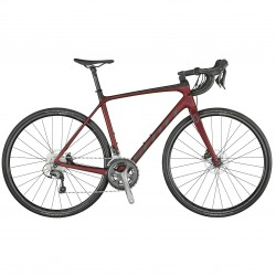 Vélo course 700 carbone - SCOTT 2021 Addict 30 Disc - Rouge métallisé décor gris anthracite
