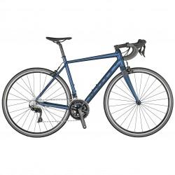 Vélo course 700 alu - SCOTT 2021 Speedster 10 - Bleu pailleté Décor bleu nuit mat