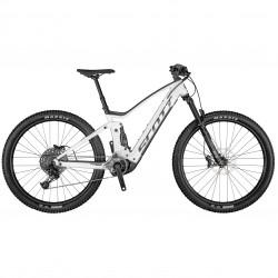 Vélo électrique VTT 29p alu - SCOTT 2021 Strike eRide 940 500 - Blanc décor noir