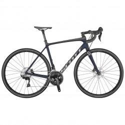 Vélo course 700 carbone - SCOTT 2021 Addict 20 Disc Compact - Bleu nuit décor gris argent et noir granite