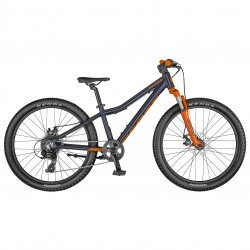 Vélo enfant 9 à 12 ans, garçon, alu SCOTT 2021 vtt Scale 24 Disc bleu cobalt décor orange
