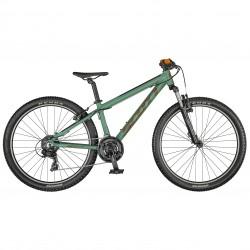 Vélo enfant 10 à 13 ans, garçon, alu SCOTT 2021 VTT Roxter 26 kaki décor orange hachuré noir
