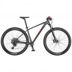 Vélo VTT 29p alu - SCOTT 2021 Scale 970 - Gris anthracite décor rouge et noir
