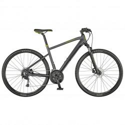 Vélo VTC homme 28p alu - SCOTT 2021 Sub Cross 30 Men - Gris anthracite décor jaune