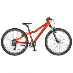 Vélo enfant 9 à 12 ans, garçon, alu SCOTT 2021 VTT Scale 24 rouge décor noir
