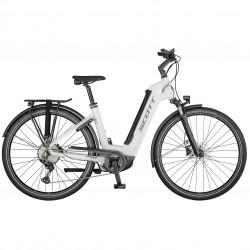 Vélo électrique urbain 28p alu - SCOTT 2021 Sub Sport eRide 10 USX 625 - Blanc décor gris