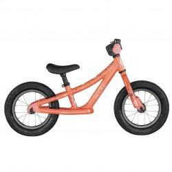 Vélo enfant draisienne 18 à 30 mois alu SCOTT 2021 VTT Contessa Walker 12 orange décor dessins multicolores