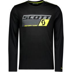 T-shirt manches longues SCOTT vtt Dri Factory Team noir décor gris et jaune