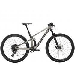 Vélo VTT 29p carbone - TREK 2021 Top Fuel 9.7 - Gris Gunmetal Décor noir