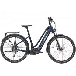 Vélo électrique route urbain 27.5p TREK 2021 carbon Allant+ 7 Lowstep 500 bleu nuit décor gris argent