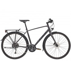 Vélo route 700 alu TREK 2021 fitness FX 3 Equipped Disc anthracite décor noir