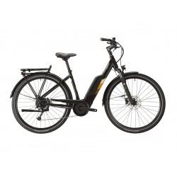 Vélo électrique VTC LAPIERRE 2021 Overvolt Urban 6.5 - Gris anthracite/Décor marron et crème