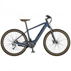 Vélo électrique VTC 29p alu - SCOTT 2021 Sub Cross eRide 30 Men 400 - Bleu gris Décor bleu nuit et gris clair
