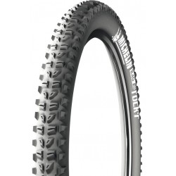 Pneu 26p MICHELIN vtt Wild Rock'R Tubeless Ready noir flancs noirs