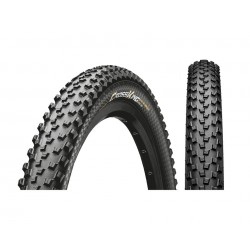 Pneu 26p CONTINENTAL vtt CrossKing Performance 26 PureGrip Tubeless Ready noir flancs noirs