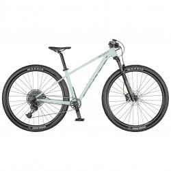 Vélo VTT femme 29p alu SCOTT 2021 Contessa Scale 950 vert d'eau pastel décor gris