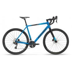 Vélo gravel 700 alu STEVENS 2021 Prestige bleu petrol décor noir