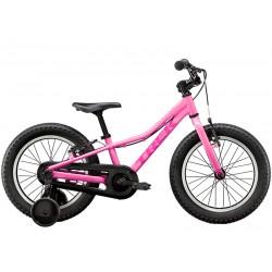 Vélo VTT fille 3 à 6 ans alu TREK 2021 Precaliber 16 Girls - Rose bonbon FROSTING Décor rose