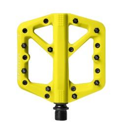 Pédales CRANKBROTHERS composite vtt bmx dh Stamp 1 Small jaune fluo