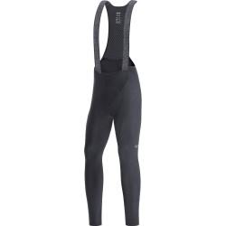 Collant à bretelles hiver - GORE C3 - noir : tissu thermique et coupe confortable - insert mousse Active bleu confortable -