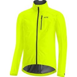 Veste imperméable - GORE GoreTex Paclite - jaune fluo : membrane imperméable - très respirante et légère - poches