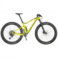 Vélo VTT 29p carbone - SCOTT 2021 Spark RC 900 - Jaune fluo Décor noir et blanc : 110-100mm
