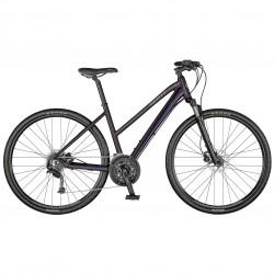 Vélo VTC femme 28p alu - SCOTT 2021 Sub Cross 30 Lady - Bleu nuit Décor gris clair
