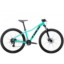 Vélo VTT femme 27.5p alu - TREK 2021 Marlin 6 WSD - Bleu turquoise Miami green Décor noir et bleu royal : 100mm