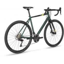 Vélo gravel 700 alu - STEVENS 2021 Gavere - Vert sapin Highland métallisé Décor noir, gris et jaune
