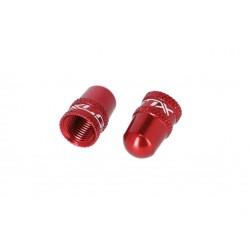 Bouchons de valve XLC alu Schrader rouge