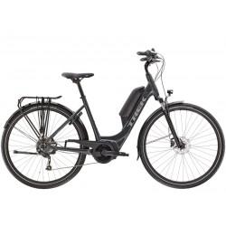 Vélo électrique ville 28p alu - TREK 2021 Verve+ 1 LowStep DT 400 - Gris anthracite décor gris argent