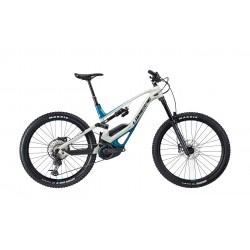 Vélo vtt électrique29-27.5 alu - LAPIERRE 2021 Overvolt GLP Elite 500 - Blanc décor turquoise et noir : 170/160