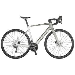 Vélo électrique course carbone - SCOTT 2021 Addict eRide 20 250 - Dégradé de gris Décor gris argent : 22v