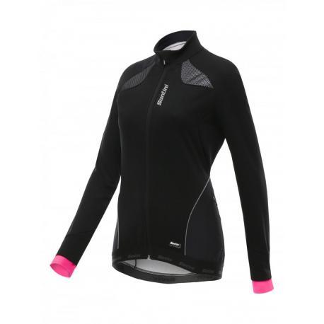 Veste thermique SANTINI hiver femme Corail noir décor rose