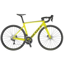 Vélo course carbone - SCOTT 2021 Addict RC 30 - Jaune fluo Décor noir