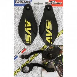 Protège mains AVS Basic noir décor jaune