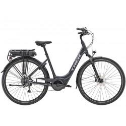 Vélo électrique ville 28p alu - TREK 2021 Verve+ 1 LowStep 300 - Gris Solid Charcoal Décor gris argent