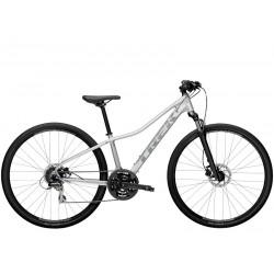 Vélo VTC femme 28p alu - TREK 2021 Dual Sport 2 WSD - Gris Quicksilver Décor gris argent