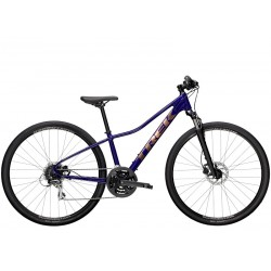 Vélo VTC femme 28p alu - TREK 2021 Dual Sport 2 WSD - Violet Abyss Décor doré : 63mm