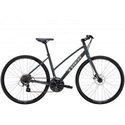 Vélo route fitness 700 alu - TREK 2021 FX 1 Stagger Disc - Gris Solid Charcoal Décor gris argent