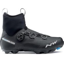 Chaussures vtt hiver - NORTHWAVE Celsius XC Arctic GoreTex - noir décor gris argent : membrane imperméable et respirante -