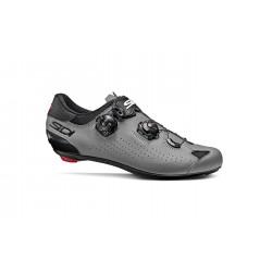 Chaussures route - SIDI Genius 10 - gris mat décor noir : semelle carbone composite rigide - 2 serrages par câbles