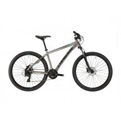 Vélo VTT 27.5 alu - LAPIERRE 2021 Edge 2.7 - Gris champagne décor bleu fluo et noir